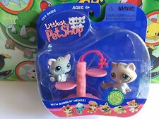 Littlest Pet Shop Set Pack #197 198 Pairs Cat Kittens Scratching Post 2006 Toy