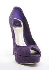 Christian Dior Peep Toe Pump Purple Snake Women's 11 M US / 41 Eur - MSRP $730