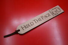 "Wooden Bookmarks Game Of Thrones Hodor ""Hold The Page"""