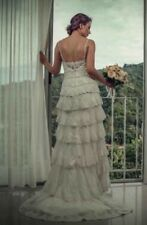 NWT~Melissa Sweet Beaded Tiered Lace Wedding Dress From David's Bridal ori $1650