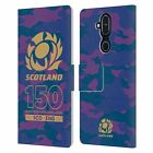 OFFICIAL SCOTLAND RUGBY 150TH ANNIVERSARY LEATHER BOOK CASE FOR NOKIA PHONES