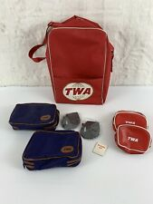 AUTHENTIC TWA Hotel Amenities Kit BRAND NEW Overnight bag + red purse? LOT