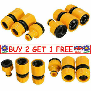 3Pcs Garden Hose Connectors Watering Pipe Tap Plastic Connector Adaptor Fitting