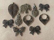Bundle of x10 mixed jewellery making pendants