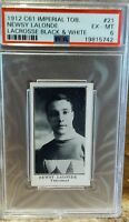 1912 C61 Imperial Tobacco Lacrosse #21 Newsy Lalonde HOF PSA 6 Vancouver Forward