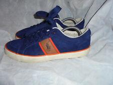 Polo Ralph Lauren Para hombres Cuero Gamuza Azul con Cordones Entrenador Size UK 10 EU 44 en muy buena condición