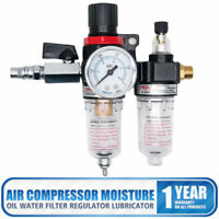 Air Compressor Oil Lubricator Water Separator Trap Filter Regulator Gauge #