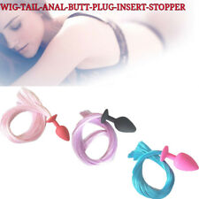 Wig Tail Butt Anal Plug Sexy Women Insert Stopper Funny Toys Adult Games Product