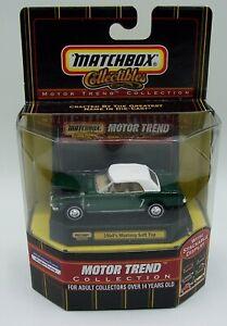 """MATCHBOX"" **RARE 1964 ½ GREEN MUSTANG** MOTOR TREND COLLECTION MIB"