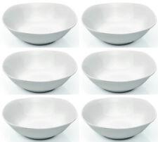 6x BOL carrée, 23 x 23 cm, plat à servir, porcelaine blanche