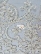 GROVE LACE FABRIC - Champagne - BY THE YARD FLORAL BRIDAL WEDDING DRESS EVENT