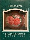Vintage Hallmark Keepsake Glass Teardrop Ornament 'Grandmother' 1987 NOS