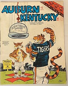 1967 Auburn vs Kentucky Football Program Phil Neel
