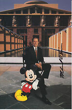 Signed picture card of Disney CEO ~ Michael Eisner (with Mickey Mouse)