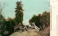 c1906 Printed Postcard; Bridge over Mill Creek, Healdsburg CA Sonoma Co. Posted