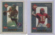 1993 Collector's Edge lot of 2,F/X4 Joe Montana,F/X11 John Elway,Hall of Fame,NM