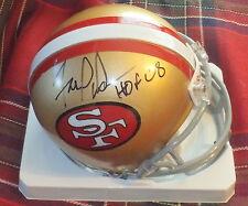 FRED DEAN SF 49ers Autographed Mini Helmet including BDS COA #1629