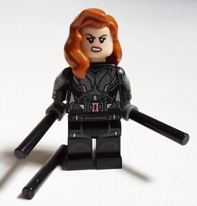 LEGO Marvel Super Heroes BLACK WIDOW MINIFIGURE from 40418 76153 76166 Avengers