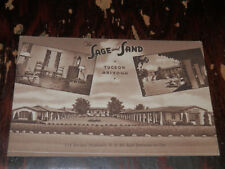 TUCSON AZ - SCARCE POSTCARD - THE SAGE AND SAND - HOTEL and APARTMENTS