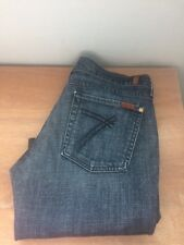 Women's 7 For All Mankind Dark Wash Capris Cropped Jeans Size 32