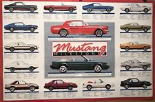 Mustang Milestones Tech Data 1965-1991 Extremely Rare! Car Poster : )Stunning