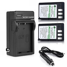 2x 2000mAh EN-EL9 EN-EL9a Battery + Charger For Nikon D40X D40 D60 D5000 MH-23