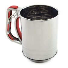 Norpro 3 Cup Polished Stainless Steel Triple Screen Flour Sifter