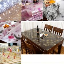 Oilproof Tablecloth Mat Printed PVC Floral Kitcken Wedding Party Restaurant Home