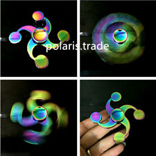 4 pin Rainbow Hand Spinner Fidget Finger Spin Hand Desk Toy EDC ADHD Autism Gift