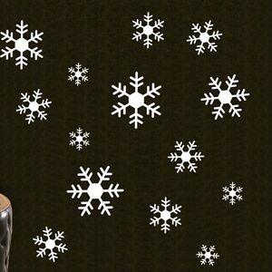 Large Snowflakes Christmas Wall Decals Vinyl Window Sticker Kids Nursery Decor