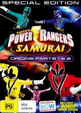 Power Rangers Samurai: Volume 4 - Origins Parts 1 & 2 (wit  - DVD - NEW Region 4