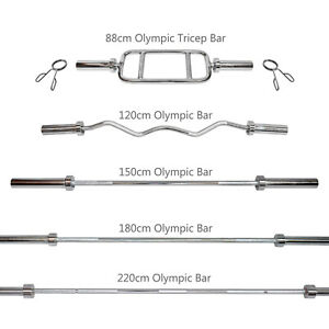 Olympic Weight Barbell Bar - Dumbell Bar - Tricep Bar - Ez Curl Bar - Home Gym