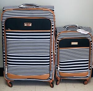 "JESSICA SIMPSON Black Nantucket Upright Spinner Suitcases (29"" or 21"")"