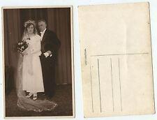 09238 - Brautpaar - altes Hochzeitsfoto
