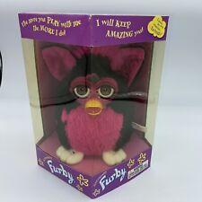 1999 Tart Tangerine Black &  Hot Pink FURBY Brown Eyes New Sealed Rare