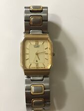 Men's Citizen QQ Gold And Silver Tone Good Condition Working Quartz Watch