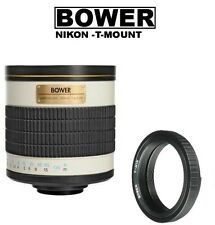 Bower 500mm f/6.3 (ATN) T-mount Telephoto Mirror Lens for Nikon DSLR Cameras