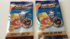 2 PACK LOT ANGRY BIRDS STAR WARS DOG TAG + BALL CHAIN + 2 STICKERS AND CHECKLIST