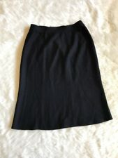 Ladie ST. JOHN Black Knit A-Line Skirt Size 6 Wool Blend