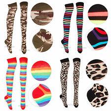 Womens Socks Party Over The Knee Socks Various Designs Fancy Dress