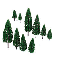 10 Plastic Green Model Tree for Train Railway Railroad Street Scenery Layout