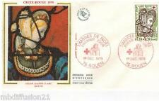 1979**FDC SOIE 1°JOUR**VITRAUX EGLISE JEANNE D'ARC-HERODIADE**TIMBRE Y/T 2070