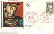 1979**FDC SOIE 1°JOUR**VITRAUX EGLISE JEANNE D'ARC-HERODIADE**TIMBRE Y/T 2070