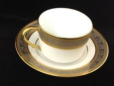 A. Raynaud & Co. Pluton Tea Cup and Saucer with Gold/Silver Incrustation