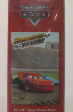 NEW Disney Cars Artscape Window Poster Lightning McQueen ~FREE SHIPPING