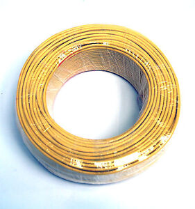75m φ3mm 3mm Shielding Signal Cable Wire 2C 26AWG Yellow Tin-plated copper wire