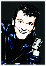 Vintage 1950s Rock 'n' Roll Poster Gene Vincent Be Bop A Lula Rockabilly Hot Rod