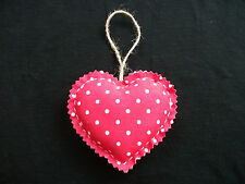 Handcrafted Shabby Chic Fabric Heart Door Hanger – Cath Kidston Mini Dot Red