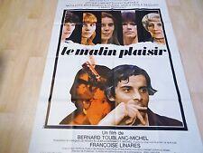 LE MALIN PLAISIR  ! jacques weber affiche cinema  1975