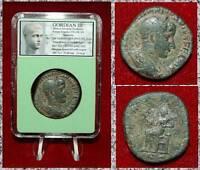 Ancient Roman Empire Coin Of GORDIAN III Securita On Reverse Large Sestertius